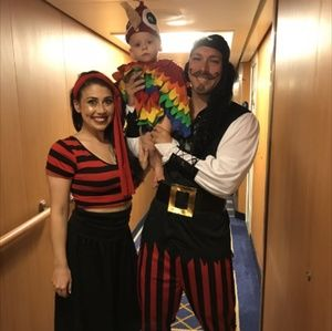 3 Piece Pirate/ Parrot Costume